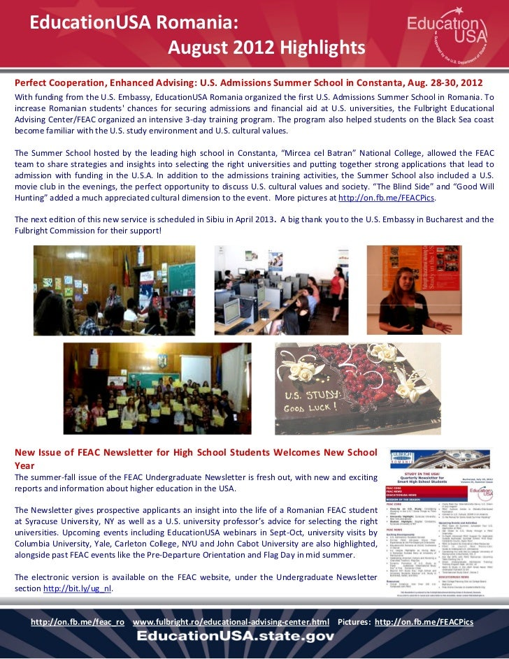 Feac_Activity Highlights August 2012