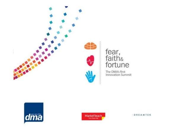 Fear, faith and fortune, an innovation summit