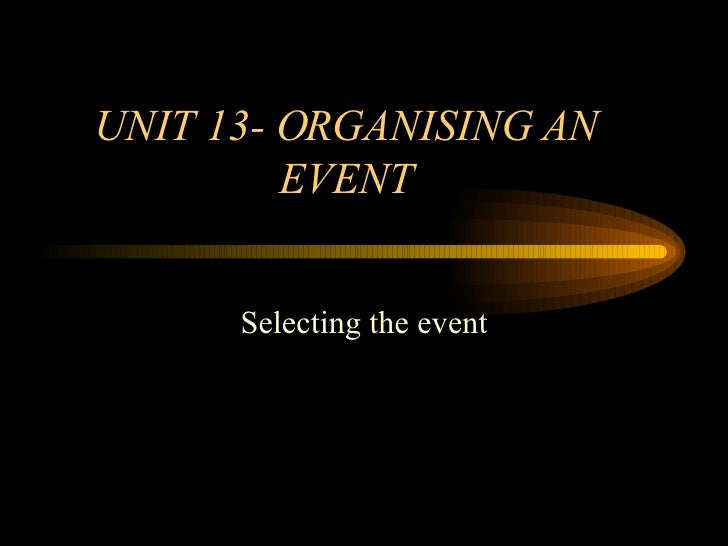 Feasibility study sample for event management