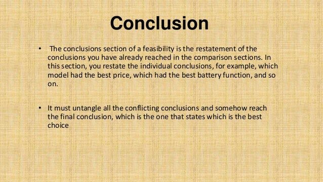 How To Write Conclusion For Project