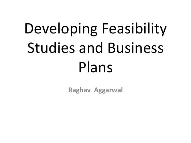 Developing Feasibility Studies and Business Plans Raghav Aggarwal