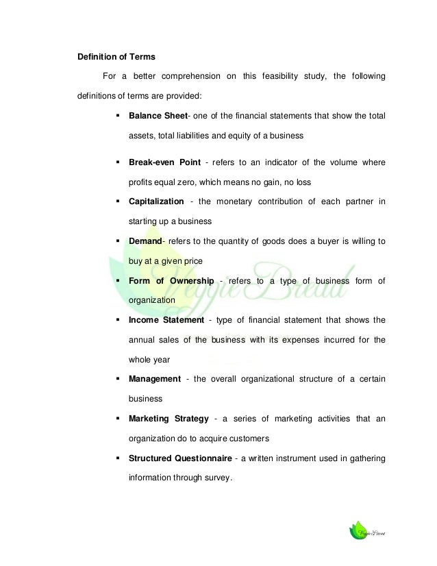 Feasibility study definition by Babylon's free dictionary