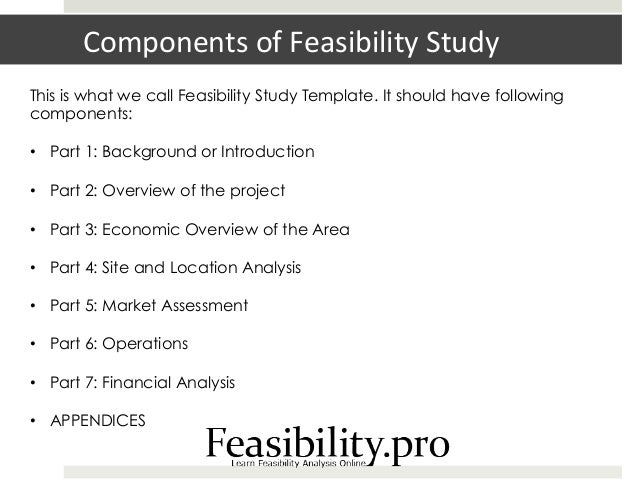 feasibility study template With real estate feasibility study template