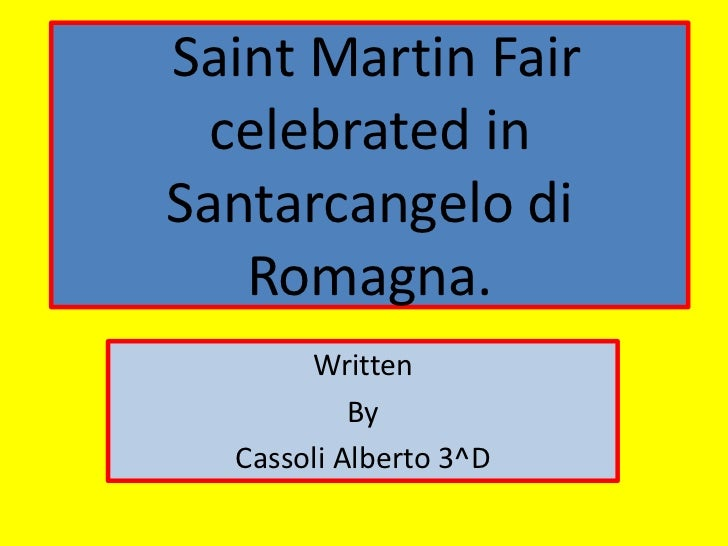 Feast of saint martin  celebrated in santarcangelo by cassoli alberto 3 d