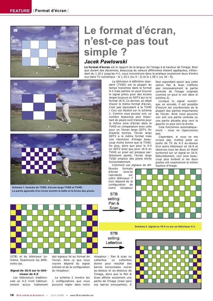 FEATURE             Format d'écran                                                                  Le format d'écran,    ...