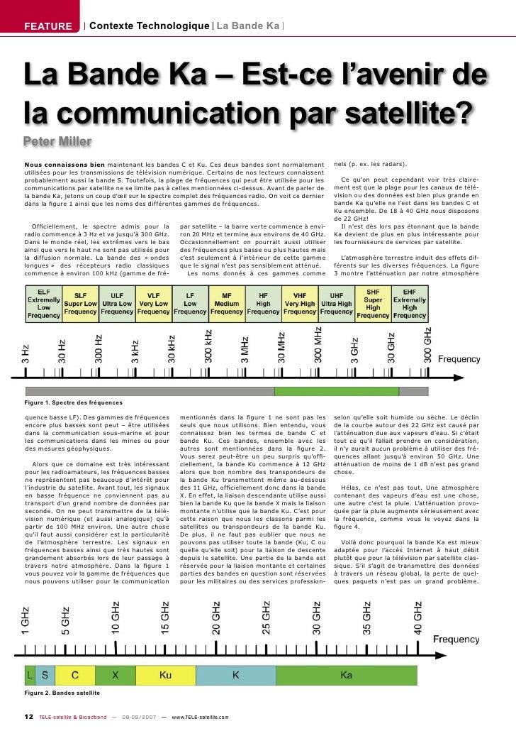 FEATURE               Contexte Technologique La Bande Ka     La Bande Ka – Est-ce l'avenir de la communication par satelli...
