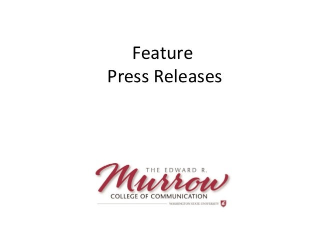 Feature Press Releases Presented by Brett Atwood