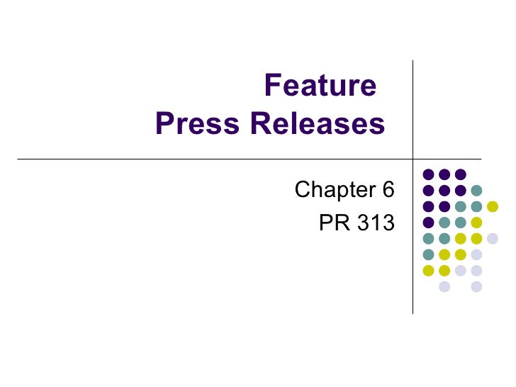 Feature News Releases