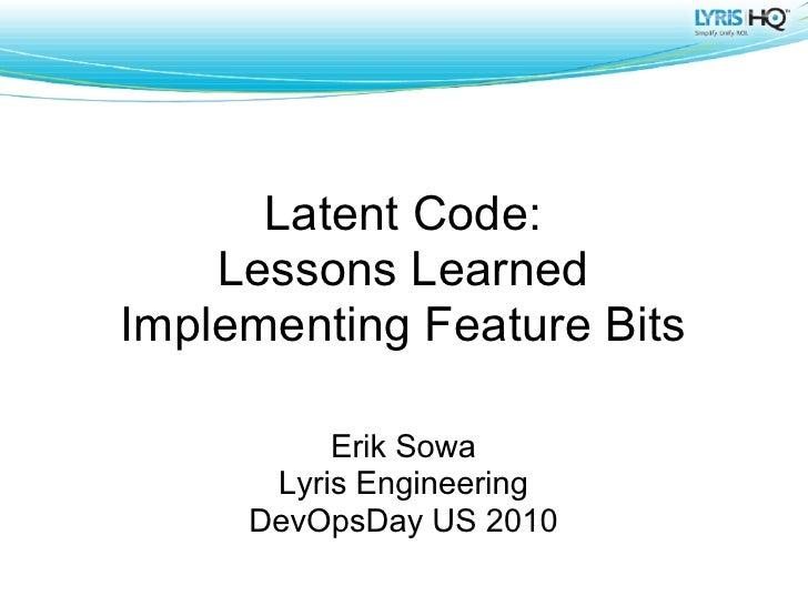 Feature Bits at DevOpsDays 2010 US