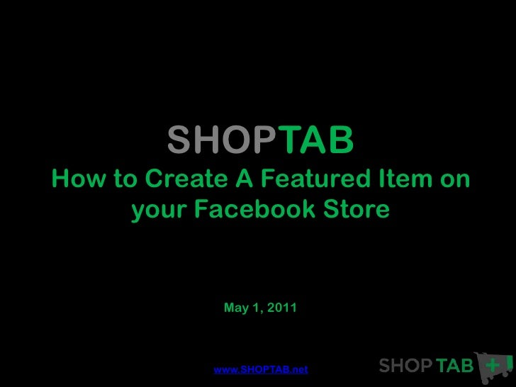 Leverage a Featured Item on your Facebook Store