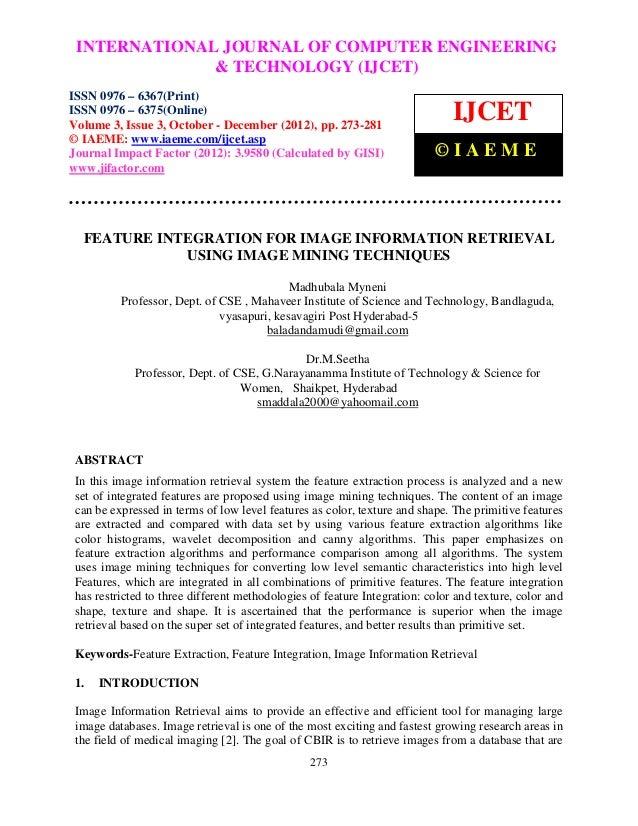 International Journal of Computer Engineering COMPUTER (IJCET), ISSN 0976 – INTERNATIONAL JOURNAL OF and Technology ENGINE...