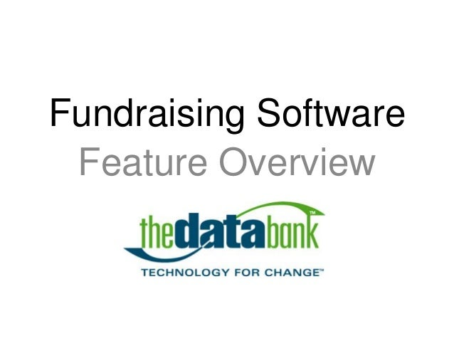 Feature Overview Fundraising Software