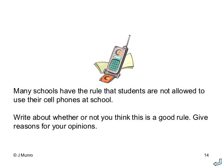 Persuasive Essay Cell Phones School
