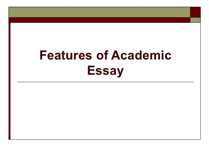 the academic essay