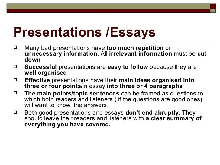 Essay repetition