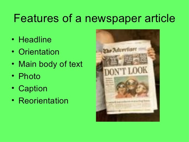 Newspaper Writing Tips PowerPoint