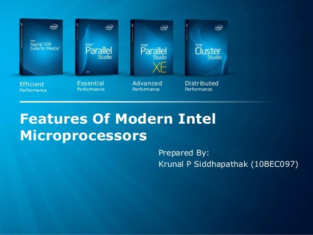 Features of modern intel microprocessors