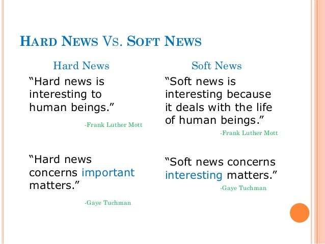 How to Write a Soft News Article