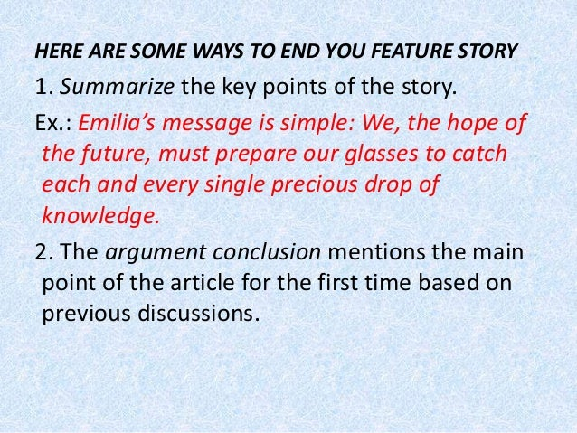 How to write a summary on a article