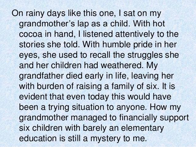 Write about rainy season