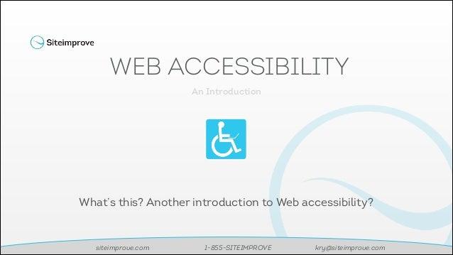 Feb 2014 Intro-Accessibility-Webinar