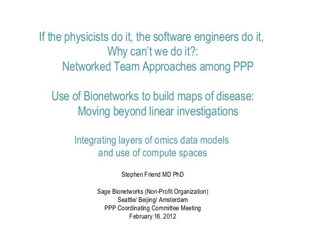 Stephen Friend NIH PPP Coordinating Committee Meeting 2012-02-16