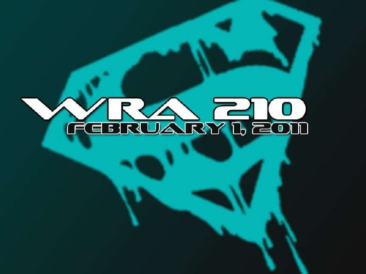 WRA 210 February 1, 2011