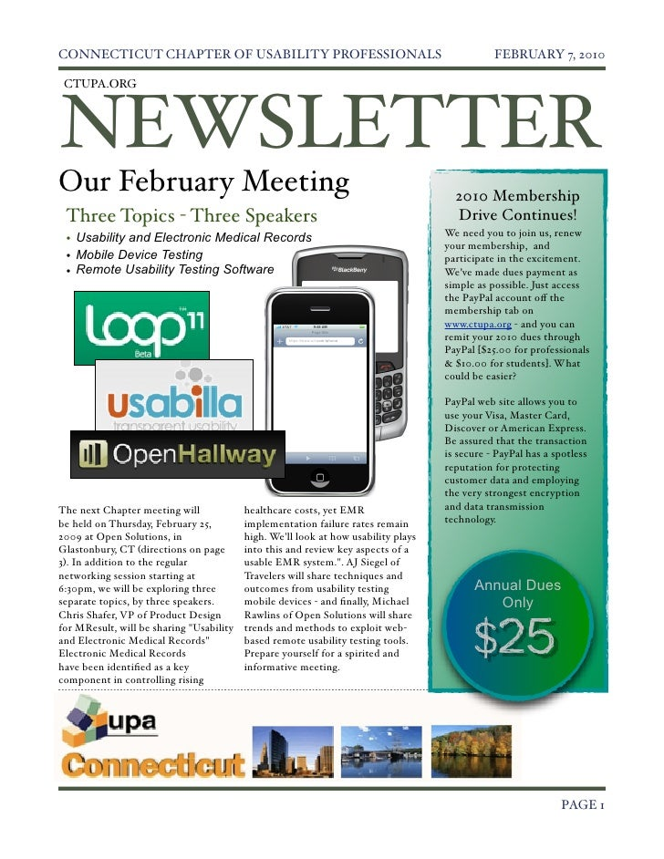 Feb 2010 CT UPA Newsletter