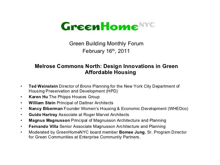 Feb 2011 green homenyc presentation