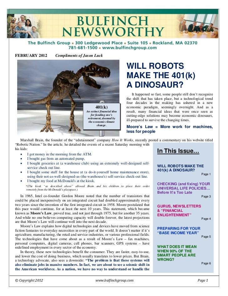 Feb 2012 Newsletter