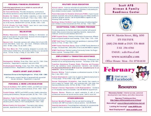 A&FRC Feb 2013 Calendar