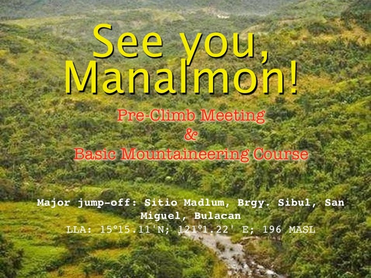 See you Manalmon on Feb 4