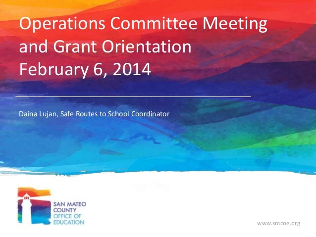 Operations Committee Meeting Feb 6, 2014