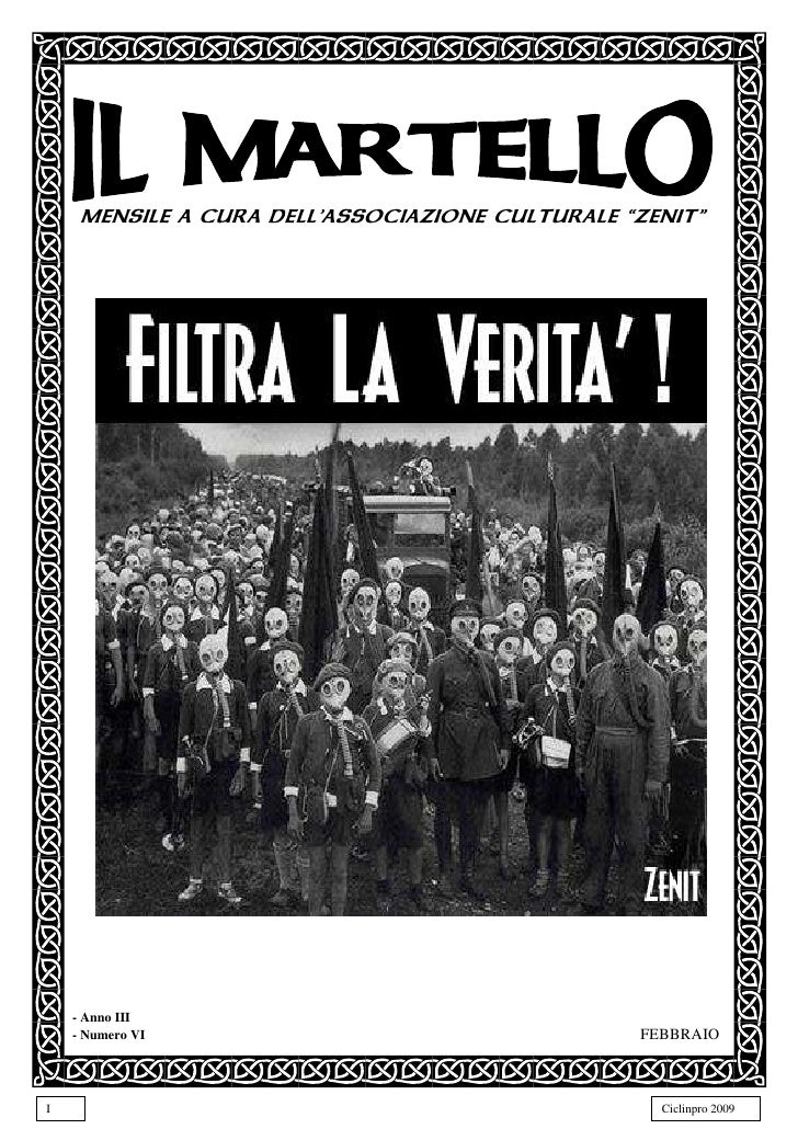 "MENSILE A CURA DELL'ASSOCIAZIONE CULTURALE ""ZENIT""         - Anno III                                                  FEB..."