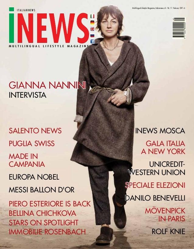 Multilingual Lifestyle Magazine, Italiannews.ch - Nr. 11 Februar, CHF- 4.-     italiannewsm u lt i l i n g u a l   lifesty...