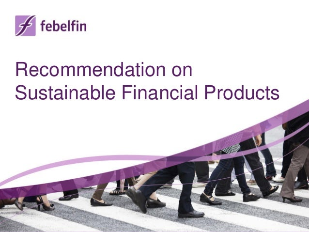 Recommendation onSustainable Financial Products