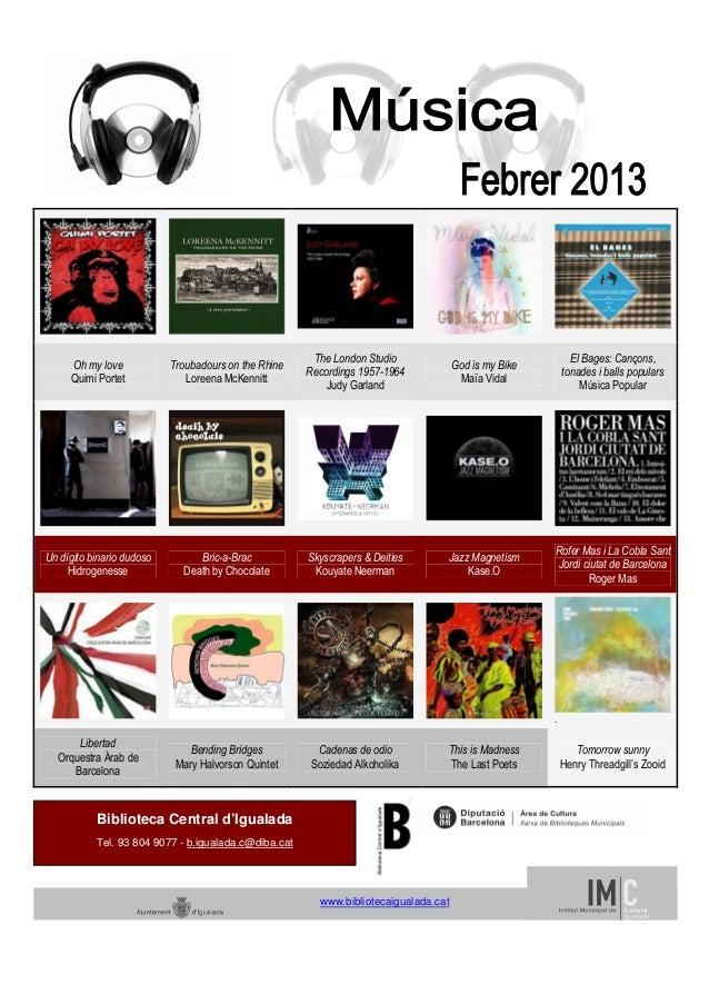 Febrer musica 2013