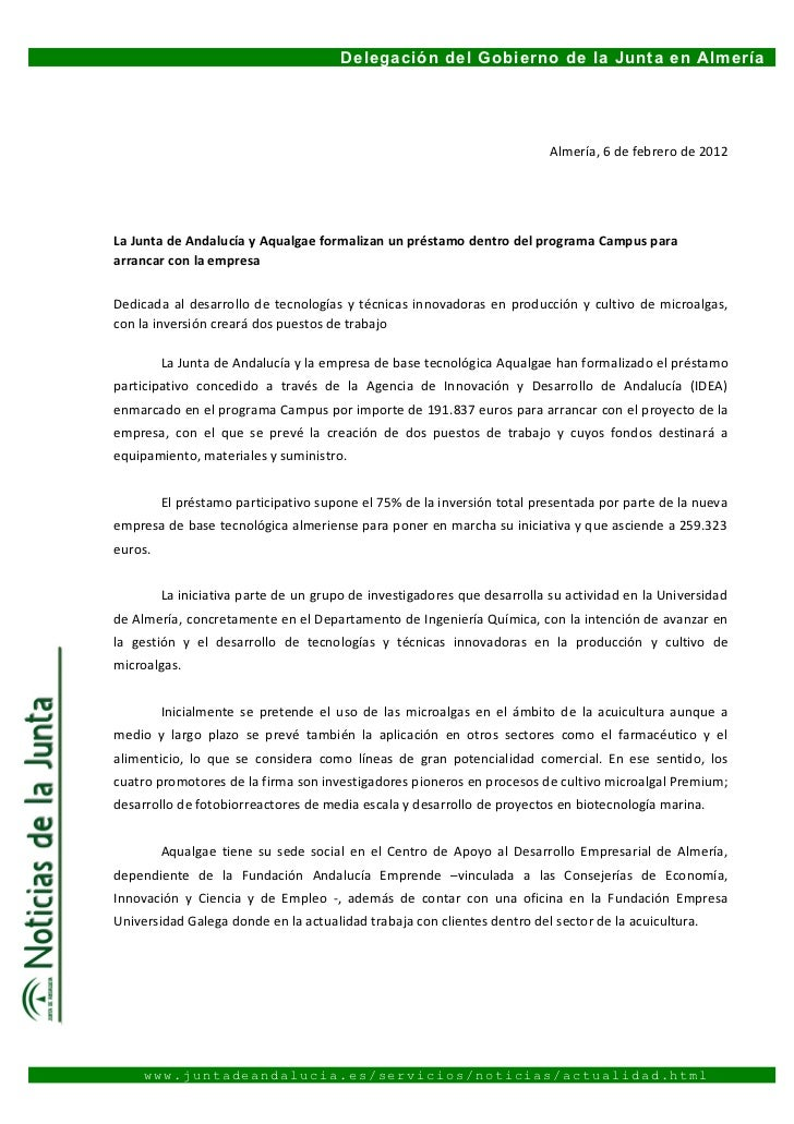 La Junta de Andalucía y Aqualgae formalizan un préstamo dentro del programa Campus para arrancar con la empresa