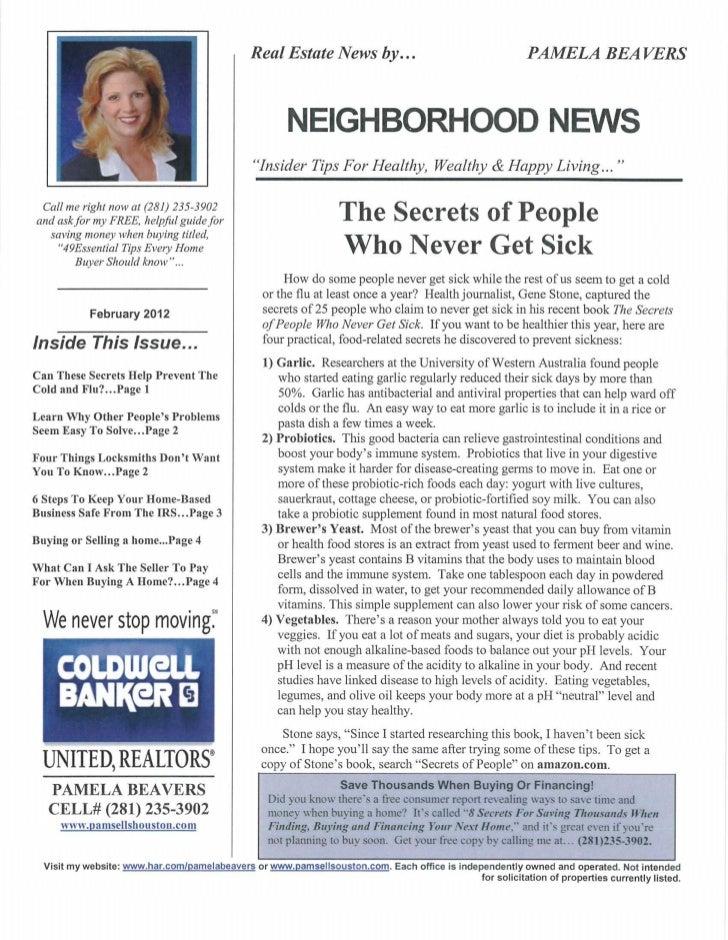February/March Newsletter 2012