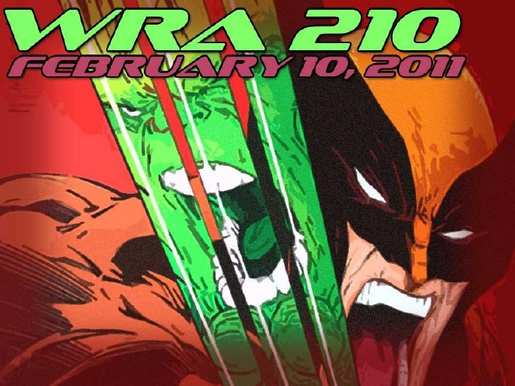 WRA 210 February 10, 2011