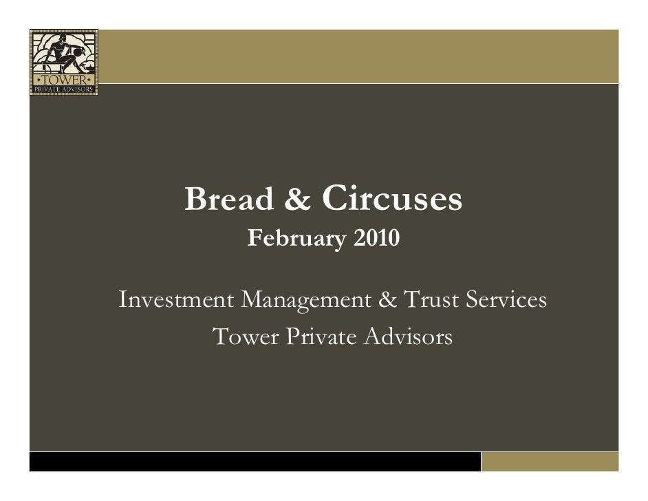 February 2010 Economic/Market Outlook Seminar