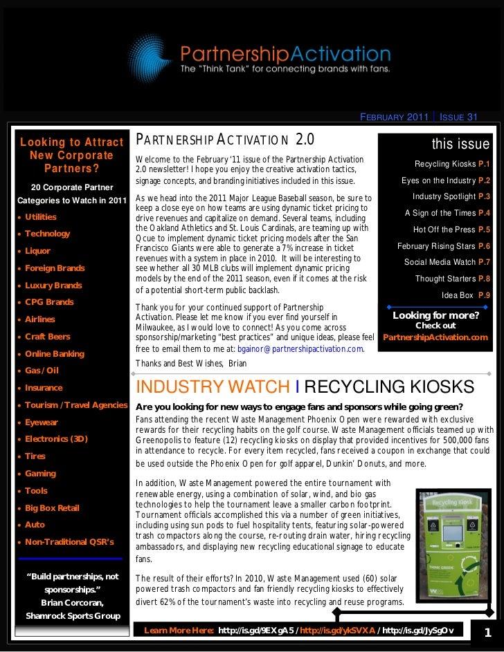 February 2011 Partnership Activation 2.0 Newsletter