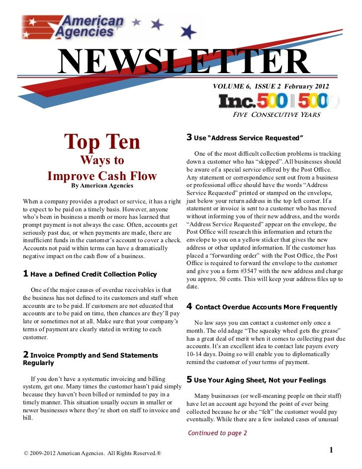 NEWSLETTER                                                  VOLUME 6, ISSUE 2 February 2012                               ...