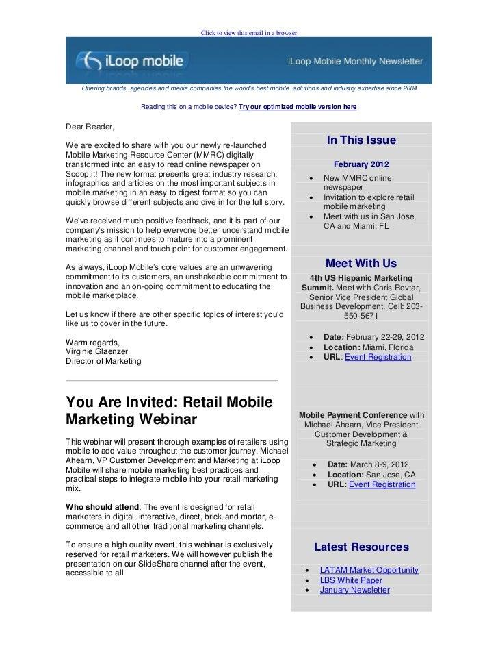 Newsletter: February 2012