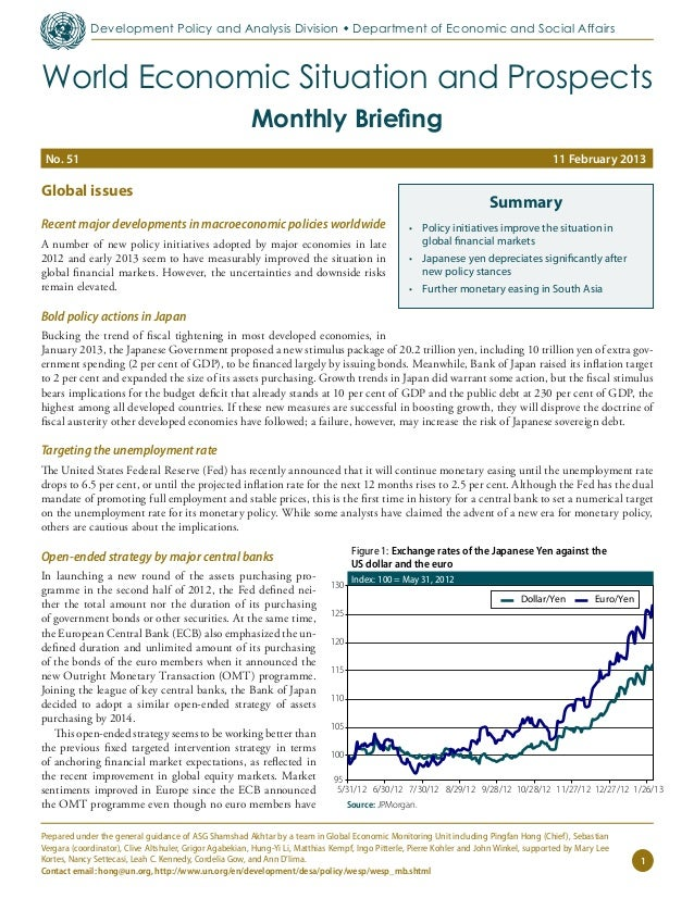 February 2013 World Economic Situation and Prospects