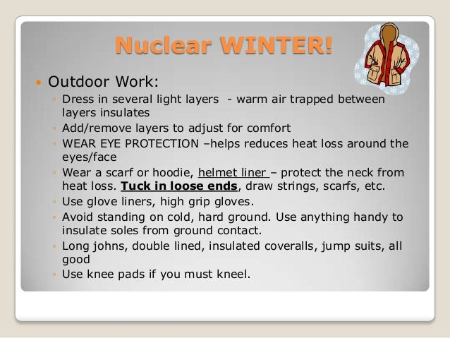 Winter safety topics for work