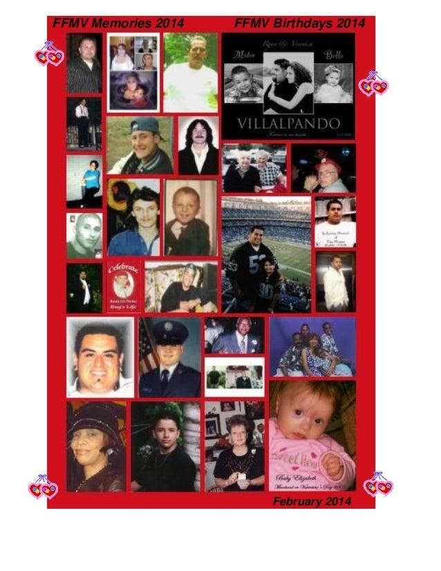 FFMV Memories 2014  FFMV Birthdays 2014  February 2014