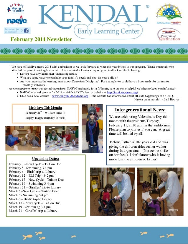 February 2014 Newsletter  We have officially entered 2014 with enthusiasm as we look forward to what this year brings to o...