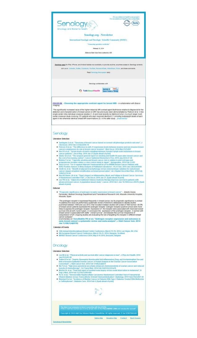 Senology Newsletter - February 25, 2014