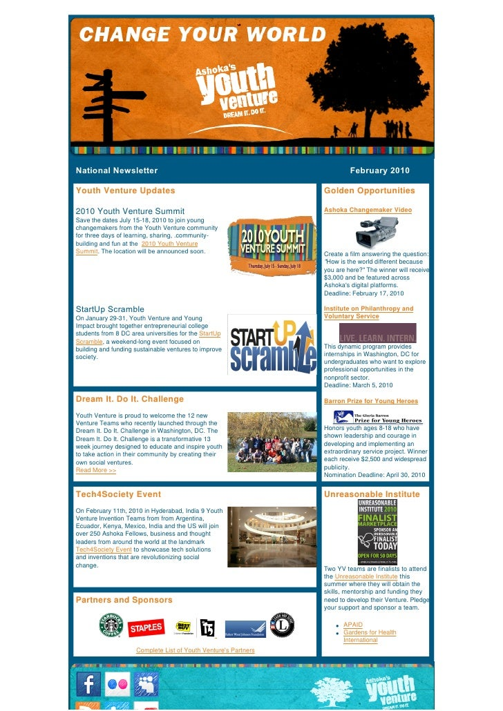 National Newsletter                                                                              February 2010   Youth Ven...